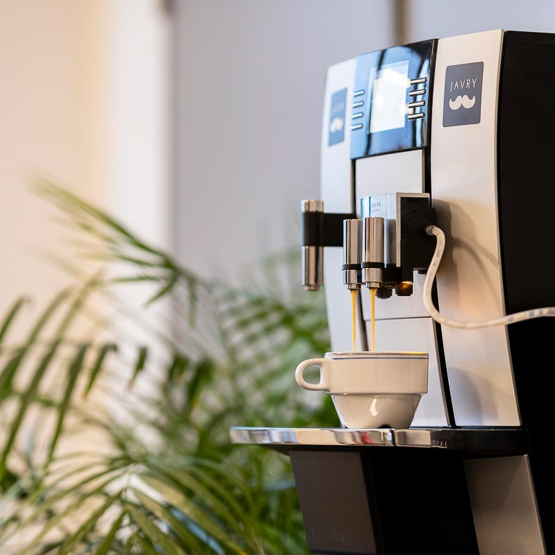 Une machine à café